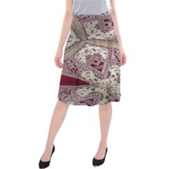 Morocco Motif Pattern Travel Midi Beach Skirt