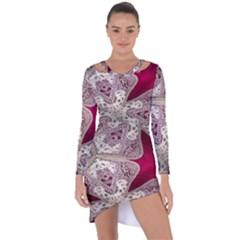 Morocco Motif Pattern Travel Asymmetric Cut Out Shift Dress