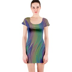 Texture Abstract Background Short Sleeve Bodycon Dress