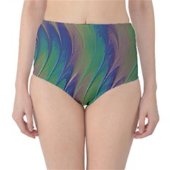 Texture Abstract Background High Waist Bikini Bottoms