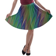 Texture Abstract Background A Line Skater Skirt
