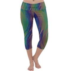 Texture Abstract Background Capri Yoga Leggings