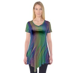 Texture Abstract Background Short Sleeve Tunic