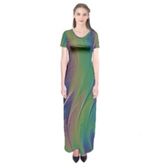 Texture Abstract Background Short Sleeve Maxi Dress
