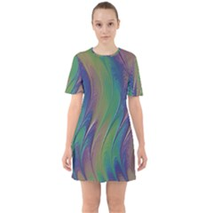 Texture Abstract Background Mini Dress
