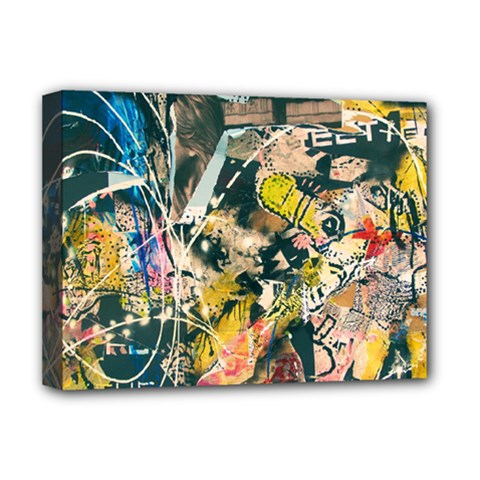 Art Graffiti Abstract Vintage Deluxe Canvas 16  X 12