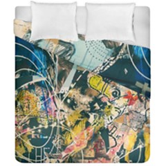 Art Graffiti Abstract Vintage Duvet Cover Double Side (california King Size) by Nexatart