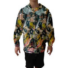 Art Graffiti Abstract Vintage Hooded Wind Breaker (kids)