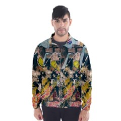Art Graffiti Abstract Vintage Wind Breaker (men)