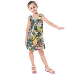 Art Graffiti Abstract Vintage Kids  Sleeveless Dress