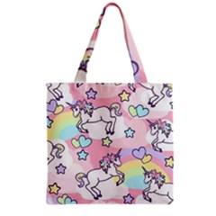 Unicorn Rainbow Grocery Tote Bag