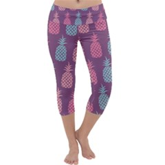 Pineapple Pattern Capri Yoga Leggings