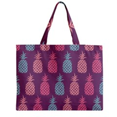 Pineapple Pattern Zipper Medium Tote Bag