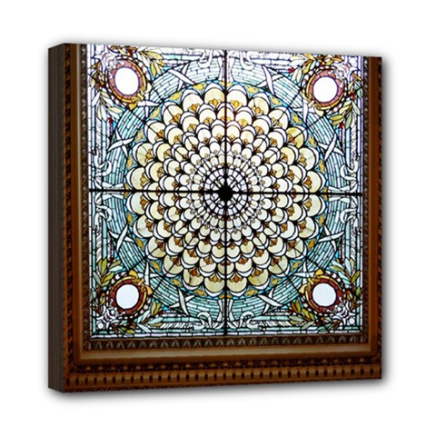 Stained Glass Window Library Of Congress Mini Canvas 8  X 8  by Nexatart
