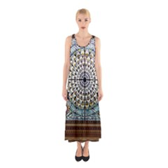 Stained Glass Window Library Of Congress Sleeveless Maxi Dress