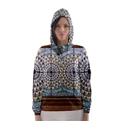 Stained Glass Window Library Of Congress Hooded Wind Breaker (women) by Nexatart