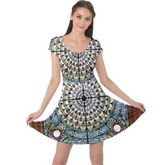 Stained Glass Window Library Of Congress Cap Sleeve Dress
