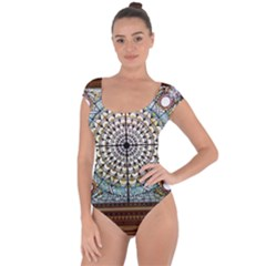 Stained Glass Window Library Of Congress Short Sleeve Leotard