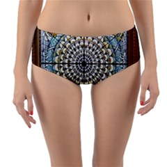 Stained Glass Window Library Of Congress Reversible Mid Waist Bikini Bottoms