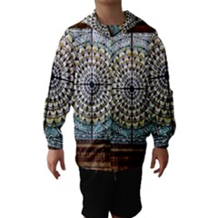 Stained Glass Window Library Of Congress Hooded Wind Breaker (kids)