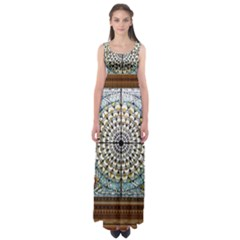 Stained Glass Window Library Of Congress Empire Waist Maxi Dress