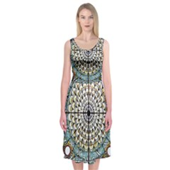 Stained Glass Window Library Of Congress Midi Sleeveless Dress