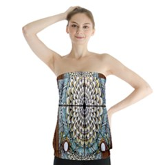 Stained Glass Window Library Of Congress Strapless Top