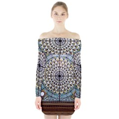 Stained Glass Window Library Of Congress Long Sleeve Off Shoulder Dress