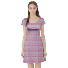 Pink Donuts Short Sleeve Skater Dress by SpookySugar