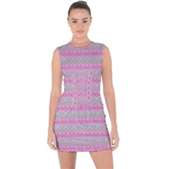 Pink Donuts Lace Up Front Bodycon Dress by SpookySugar