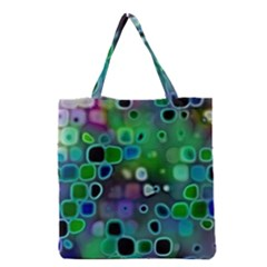 Psychedelic Lights 1 Grocery Tote Bag by MoreColorsinLife