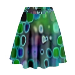 Psychedelic Lights 1 High Waist Skirt by MoreColorsinLife