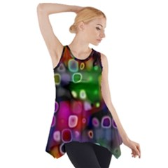 Psychedelic Lights 2 Side Drop Tank Tunic by MoreColorsinLife