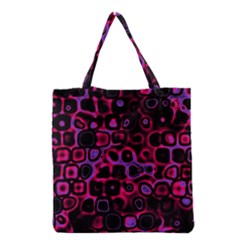 Psychedelic Lights 3 Grocery Tote Bag by MoreColorsinLife