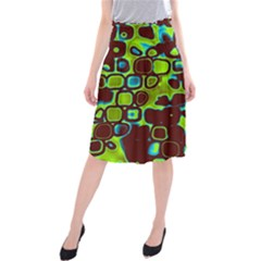 Psychedelic Lights 6 Midi Beach Skirt by MoreColorsinLife
