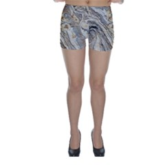 Background Structure Abstract Grain Marble Texture Skinny Shorts