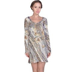 Background Structure Abstract Grain Marble Texture Long Sleeve Nightdress