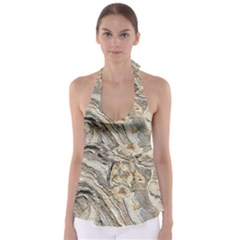 Background Structure Abstract Grain Marble Texture Babydoll Tankini Top