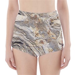 Background Structure Abstract Grain Marble Texture High Waisted Bikini Bottoms