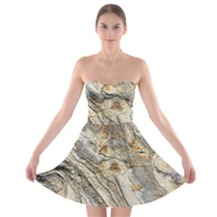 Background Structure Abstract Grain Marble Texture Strapless Bra Top Dress