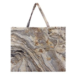 Background Structure Abstract Grain Marble Texture Zipper Large Tote Bag
