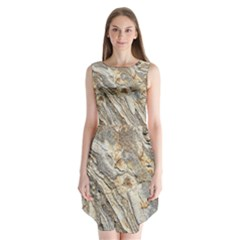Background Structure Abstract Grain Marble Texture Sleeveless Chiffon Dress