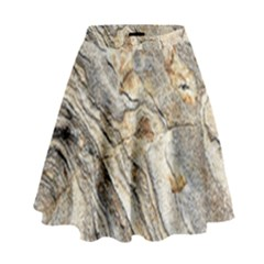 Background Structure Abstract Grain Marble Texture High Waist Skirt