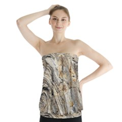 Background Structure Abstract Grain Marble Texture Strapless Top