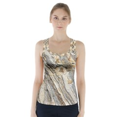 Background Structure Abstract Grain Marble Texture Racer Back Sports Top
