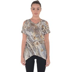 Background Structure Abstract Grain Marble Texture Cut Out Side Drop Tee