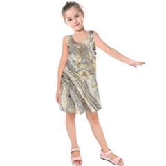 Background Structure Abstract Grain Marble Texture Kids  Sleeveless Dress