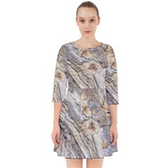 Background Structure Abstract Grain Marble Texture Smock Dress