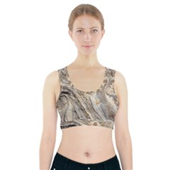 Background Structure Abstract Grain Marble Texture Sports Bra With Pocket