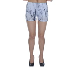 Marble Granite Pattern And Texture Skinny Shorts